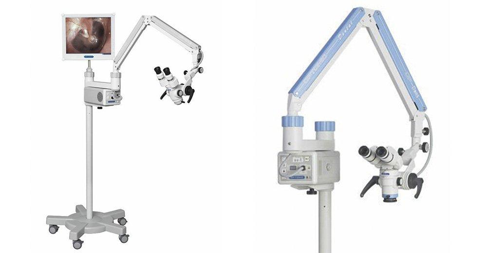 Otomicroscopio collegato a telecamera Full HD