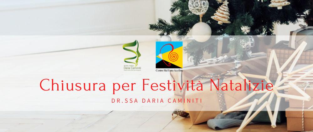 Studio medico Caminiti Chiusura per Festività Natalizie